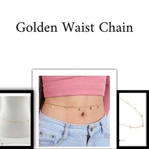 Jewelry - Simple Flat Disco Waist Chain NWT Gold tone